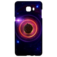The Little Astronaut On A Tiny Fractal Planet Samsung C9 Pro Hardshell Case