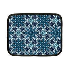 Boho Blue Fancy Tile Pattern Netbook Case (Small)