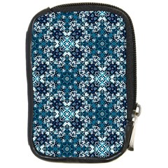 Boho Blue Fancy Tile Pattern Compact Camera Cases