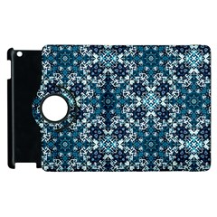 Boho Blue Fancy Tile Pattern Apple Ipad 3/4 Flip 360 Case