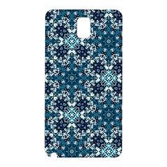 Boho Blue Fancy Tile Pattern Samsung Galaxy Note 3 N9005 Hardshell Back Case
