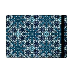 Boho Blue Fancy Tile Pattern iPad Mini 2 Flip Cases