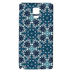 Boho Blue Fancy Tile Pattern Galaxy Note 4 Back Case
