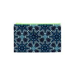 Boho Blue Fancy Tile Pattern Cosmetic Bag (XS)