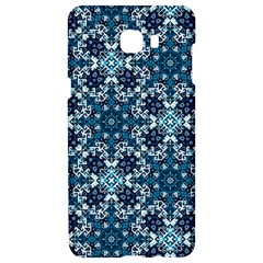 Boho Blue Fancy Tile Pattern Samsung C9 Pro Hardshell Case