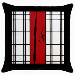 SHOJI - BAMBOO Throw Pillow Case (Black)