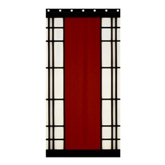 SHOJI - RED Shower Curtain 36  x 72  (Stall)