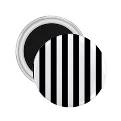 Classic Black and White Football Soccer Referee Stripes 2.25  Magnets