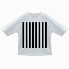 Classic Black and White Football Soccer Referee Stripes Infant/Toddler T-Shirts