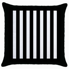Classic Black and White Football Soccer Referee Stripes Throw Pillow Case (Black)