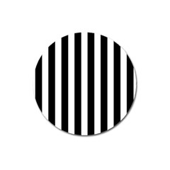 Classic Black and White Football Soccer Referee Stripes Magnet 3  (Round)