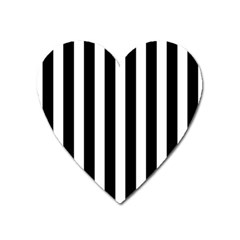 Classic Black and White Football Soccer Referee Stripes Heart Magnet