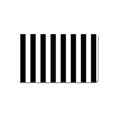 Classic Black and White Football Soccer Referee Stripes Magnet (Name Card)