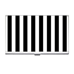Classic Black and White Football Soccer Referee Stripes Business Card Holders