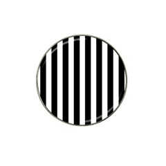 Classic Black and White Football Soccer Referee Stripes Hat Clip Ball Marker