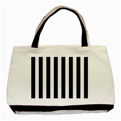 Classic Black and White Football Soccer Referee Stripes Basic Tote Bag