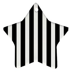Classic Black and White Football Soccer Referee Stripes Star Ornament (Two Sides)
