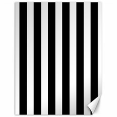 Classic Black and White Football Soccer Referee Stripes Canvas 12  x 16