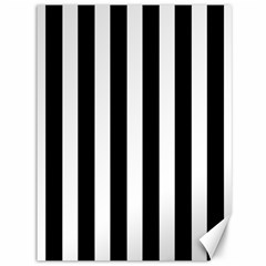 Classic Black and White Football Soccer Referee Stripes Canvas 36  x 48