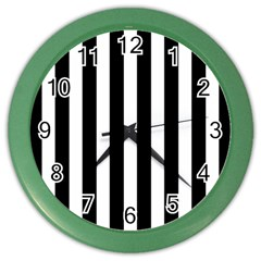 Classic Black and White Football Soccer Referee Stripes Color Wall Clocks