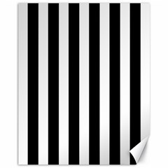 Classic Black and White Football Soccer Referee Stripes Canvas 11  x 14