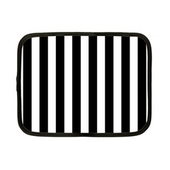 Classic Black and White Football Soccer Referee Stripes Netbook Case (Small)