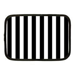 Classic Black and White Football Soccer Referee Stripes Netbook Case (Medium)