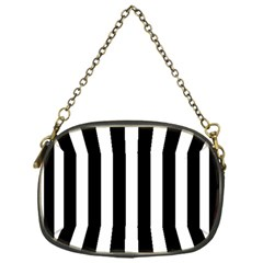 Classic Black and White Football Soccer Referee Stripes Chain Purses (One Side)
