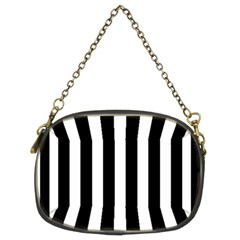 Classic Black and White Football Soccer Referee Stripes Chain Purses (Two Sides)