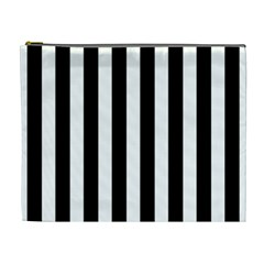 Classic Black and White Football Soccer Referee Stripes Cosmetic Bag (XL)