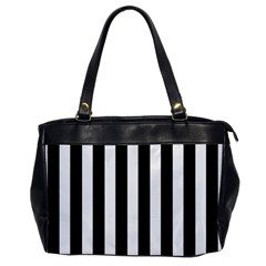 Classic Black and White Football Soccer Referee Stripes Office Handbags