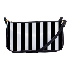 Classic Black and White Football Soccer Referee Stripes Shoulder Clutch Bags