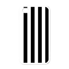 Classic Black and White Football Soccer Referee Stripes Apple iPhone 4 Case (White)