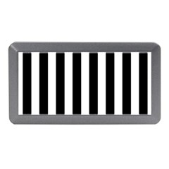 Classic Black and White Football Soccer Referee Stripes Memory Card Reader (Mini)