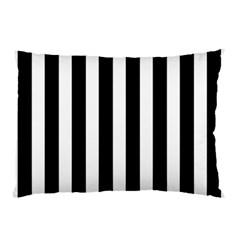 Classic Black and White Football Soccer Referee Stripes Pillow Case (Two Sides)
