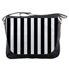 Classic Black and White Football Soccer Referee Stripes Messenger Bags