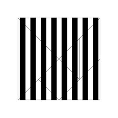 Classic Black and White Football Soccer Referee Stripes Acrylic Tangram Puzzle (4  x 4 )