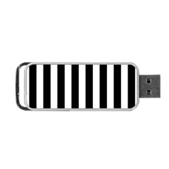 Classic Black and White Football Soccer Referee Stripes Portable USB Flash (Two Sides)