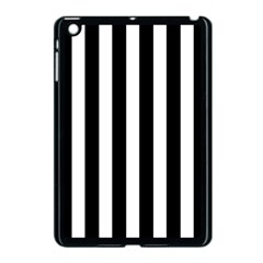 Classic Black and White Football Soccer Referee Stripes Apple iPad Mini Case (Black)