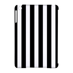 Classic Black and White Football Soccer Referee Stripes Apple iPad Mini Hardshell Case (Compatible with Smart Cover)