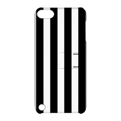 Classic Black and White Football Soccer Referee Stripes Apple iPod Touch 5 Hardshell Case with Stand