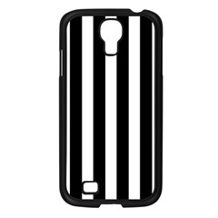 Classic Black and White Football Soccer Referee Stripes Samsung Galaxy S4 I9500/ I9505 Case (Black)