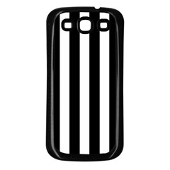 Classic Black and White Football Soccer Referee Stripes Samsung Galaxy S3 Back Case (Black)