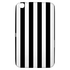 Classic Black and White Football Soccer Referee Stripes Samsung Galaxy Tab 3 (8 ) T3100 Hardshell Case