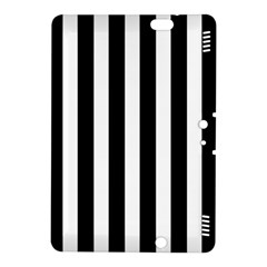 Classic Black and White Football Soccer Referee Stripes Kindle Fire HDX 8.9  Hardshell Case