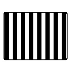 Classic Black and White Football Soccer Referee Stripes Double Sided Fleece Blanket (Small)