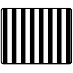 Classic Black and White Football Soccer Referee Stripes Double Sided Fleece Blanket (Medium)