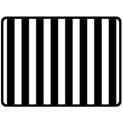 Classic Black and White Football Soccer Referee Stripes Double Sided Fleece Blanket (Large)