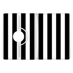 Classic Black and White Football Soccer Referee Stripes Kindle Fire HDX Flip 360 Case