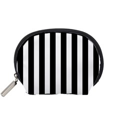 Classic Black and White Football Soccer Referee Stripes Accessory Pouches (Small)